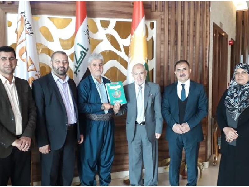 زيارة وفد من إدارة فرع السليمانية لمقابلة المدير التنفيذي للمشروع في كردستان 2019