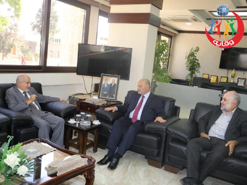 زيارة المدير التنفيذي للمشروع د.عبدالحميـد القضــاة لبلدية إربـد – الأردن 2019