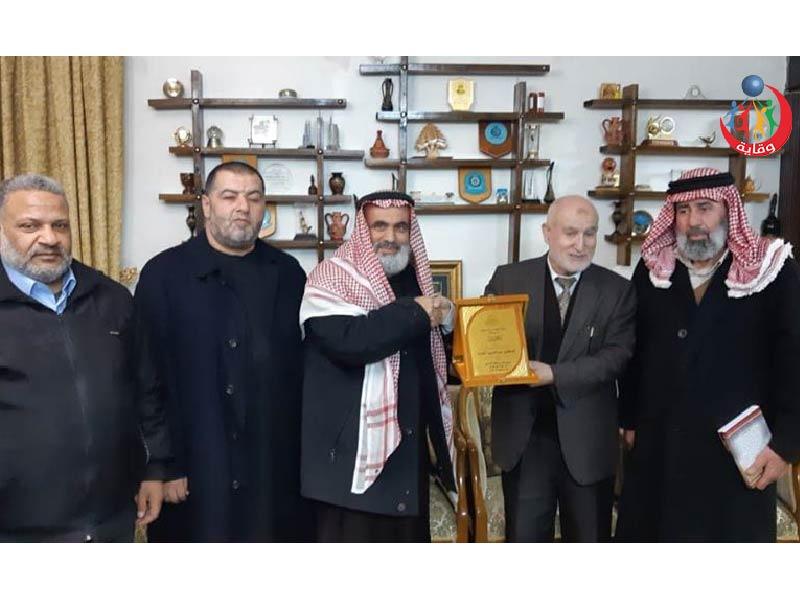 تكريم لجنة إدارة فرع بني كنانة من جمعية المحافظة على القرآن الكريم للدكتور عبدالحميد القضــاة 2020