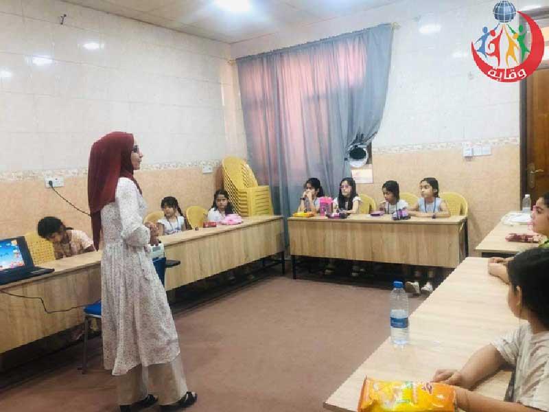 محاضرة للمدربة پیمان عمر من منظمة وقاية الشباب في كردستان-2021