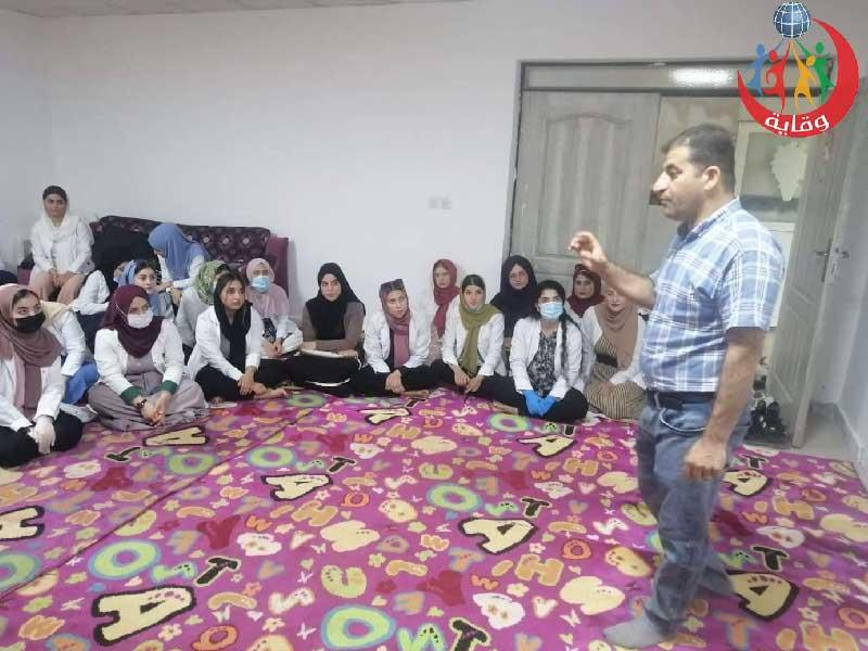 محاضرة للمدرب اركان من منظمة وقاية الشباب في كردستان-2021